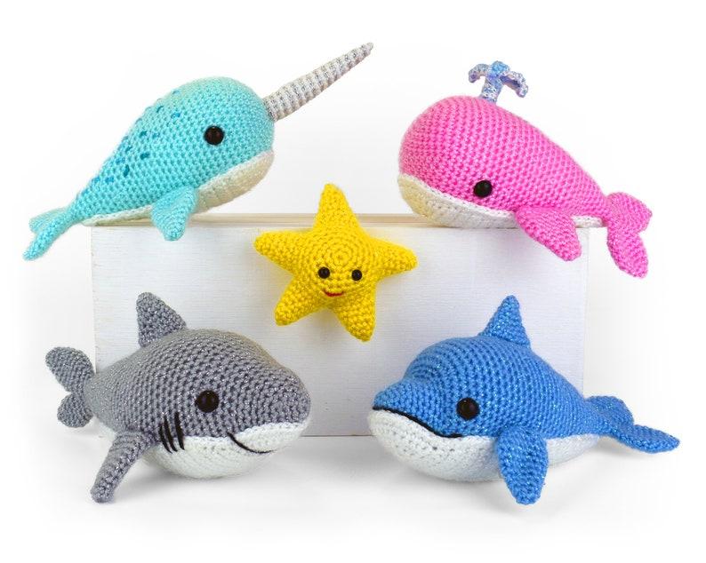 Ocean Buddies  Amigurumi Crochet Pattern image 0