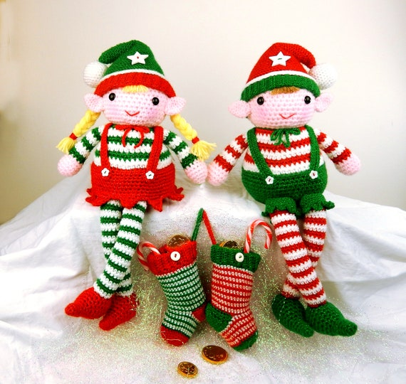 CROCHET PATTERN in English - Edna the Elf Doll - Christmas - 11 in ... | 540x570