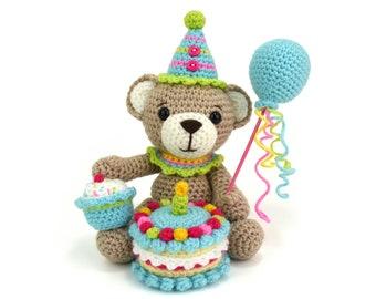 Bertie Bear's Birthday Party (Amigurumi Crochet Pattern)