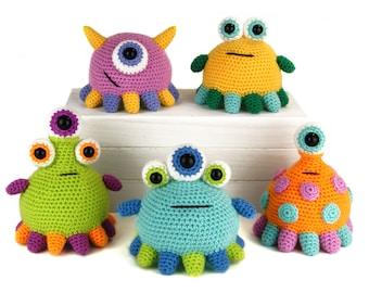 Tippy Toe Monsters - Amigurumi Crochet Pattern