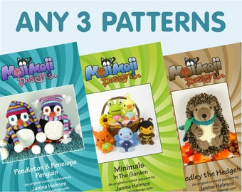 Any 3 Amigurumi/Crochet Patterns of your choice.