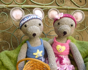 Maisie and Maurice Mouse - Amigurumi Crochet Pattern