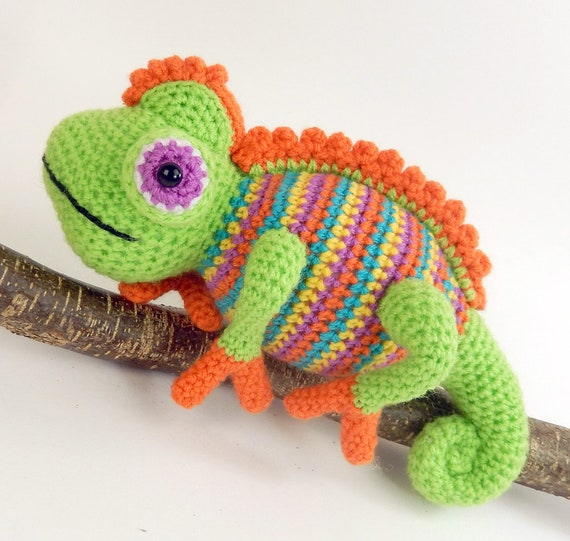 Camelia The Chameleon Amigurumi Crochet Pattern Etsy