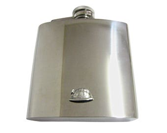 Davy Lamp 6oz Hip Flask Personalised Miners Gift Boxed FREE ENGRAVING 100