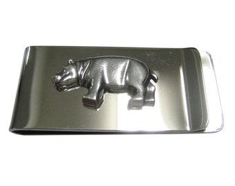 Hippo Hippopotamus Leather Mens Bi Fold Wallet BLACK or Brown wildlife Gift  180