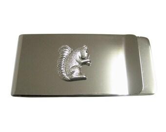 c7718457b35e9 Silberfarbenen kleine Eichhörnchen-Anhänger-Geld-Clip