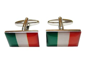 Bordered Italy Flag Cufflinks