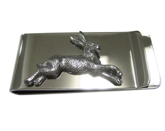 Leaping Hare Rabbit Money Clip