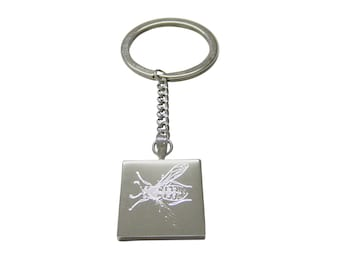 Silver Toned Etched Wasp Insect Keychain bb92c5b2de