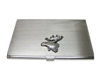 Moose card holder etsy moose head business card holder colourmoves