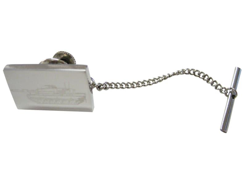 Engraved Detailed Tank Tie Tack