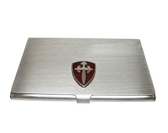 Brown Medieval Shield Business Card Holder