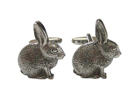 Hare Rabbit Head Cufflinks