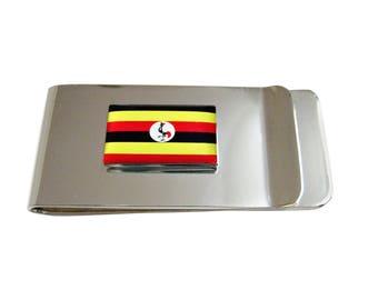 Uganda Flag Pendant Money Clip
