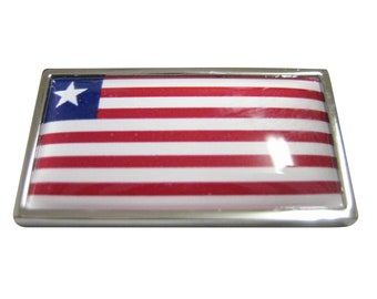 Thin Bordered Liberia Flag Magnet