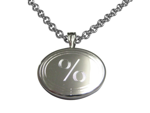 Gold Toned Etched Oval Mathematical Percent Sign Tie Tack