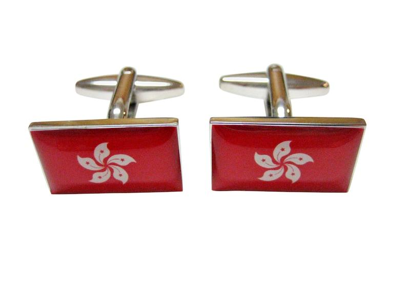 Hong Kong Flag Cufflinks