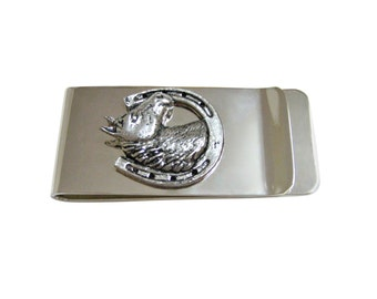 Horse and Horse Shoe Money Clip