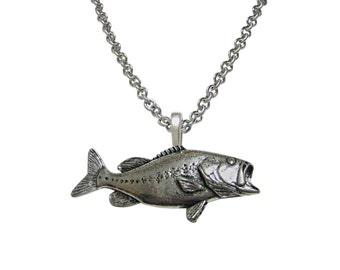 Bass Fish Pendant Necklace