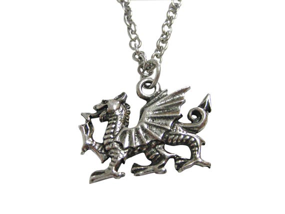 Silver Welsh Dragon Dragon Clip-On Charm with Lobster Clasp Gift Box Included
