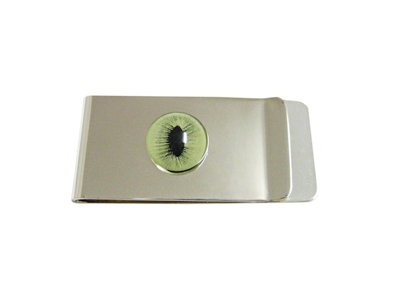 Green Cat Eye Design Money Clip