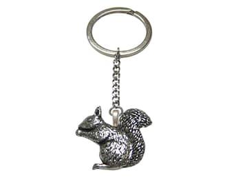 Squirrel Pendant Keychain