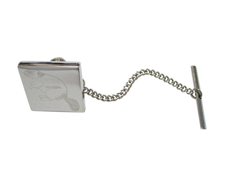 Engraved Beaver Tie Tack