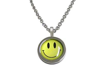 Smiling Face Pendant Necklace