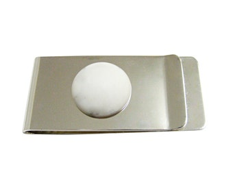 Round White Howlite Gemstone Money Clip