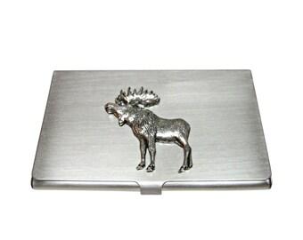 Moose card holder etsy full moose business card holder colourmoves