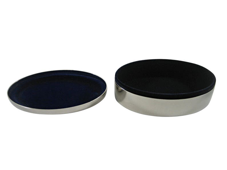 Silver Toned Trilobite Design Pendant Oval Trinket Jewelry Box