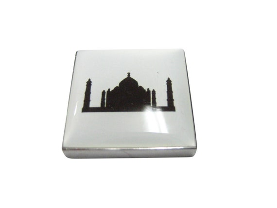 Square Taj Mahal Business Card Holder