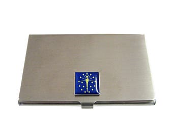 Indiana State Flag Business Card Holder