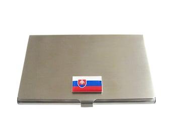 Slovakia Flag Business Card Holder