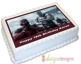 Deadpool A4 Edible Icing Cake Topper