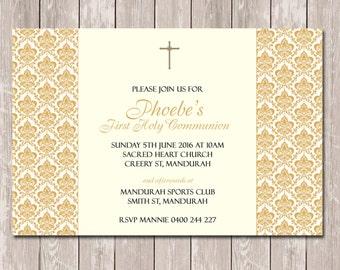 Communion Confirmation Baptism Invitations - YOU PRINT