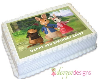 Peter Rabbit A4 Edible Icing Cake Topper