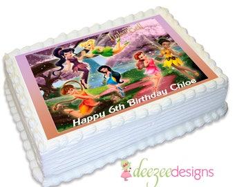 Tinkerbell A4 Edible Icing Cake Topper - EI028A4