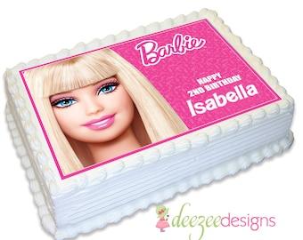 Barbie A4 Edible Icing Cake Topper - EI177A4