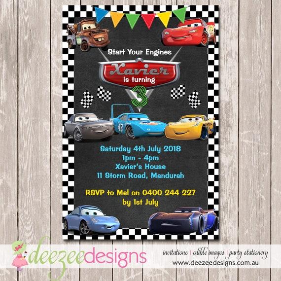 Cars Lightning McQueen Birthday Invitation YOU PRINT