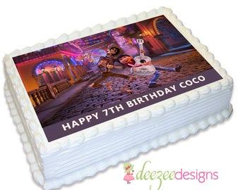 Coco A4 Edible Icing Cake Topper - EI173A4