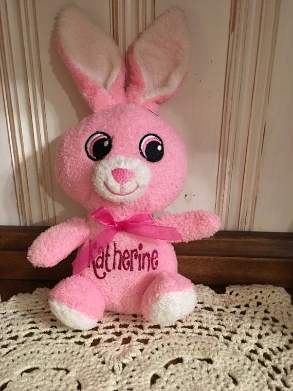 Adorable Personalized Monogram Small Easter Plush Floppy Eared