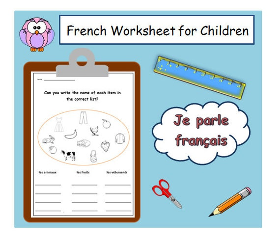 French Language Primary Resources Lesson Plans And Teaching Etsy