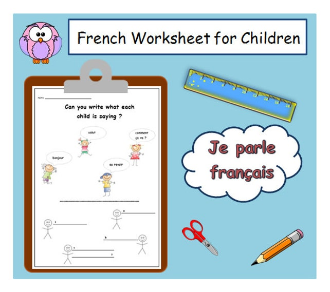 Greeting words french worksheet teacher printable etsy image 0 m4hsunfo