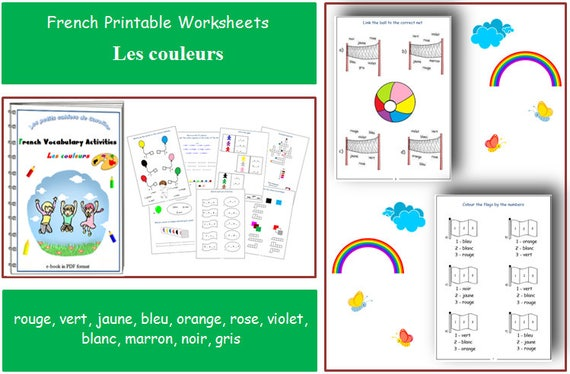 Learning French Colours With Teacher Worksheets For