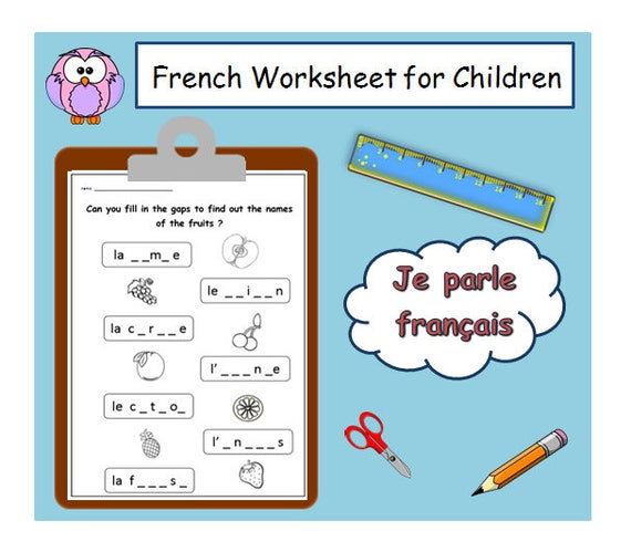 Französisch Lehrer Alphabetisierung Arbeitsblatt/Kinder | Etsy