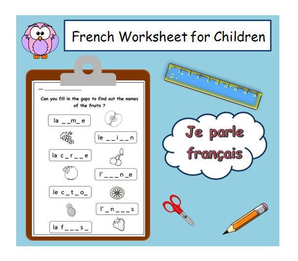 Französisch Lehrer Alphabetisierung Arbeitsblatt/Kinder