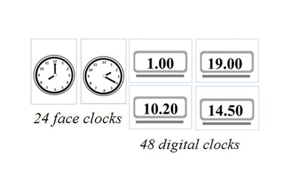 EDUCATIONAL PRINTABLES / Learn the Time in French with Clock Cards/Clock  Posters/Face clock & Digital Clock Printables / Teaching Resources