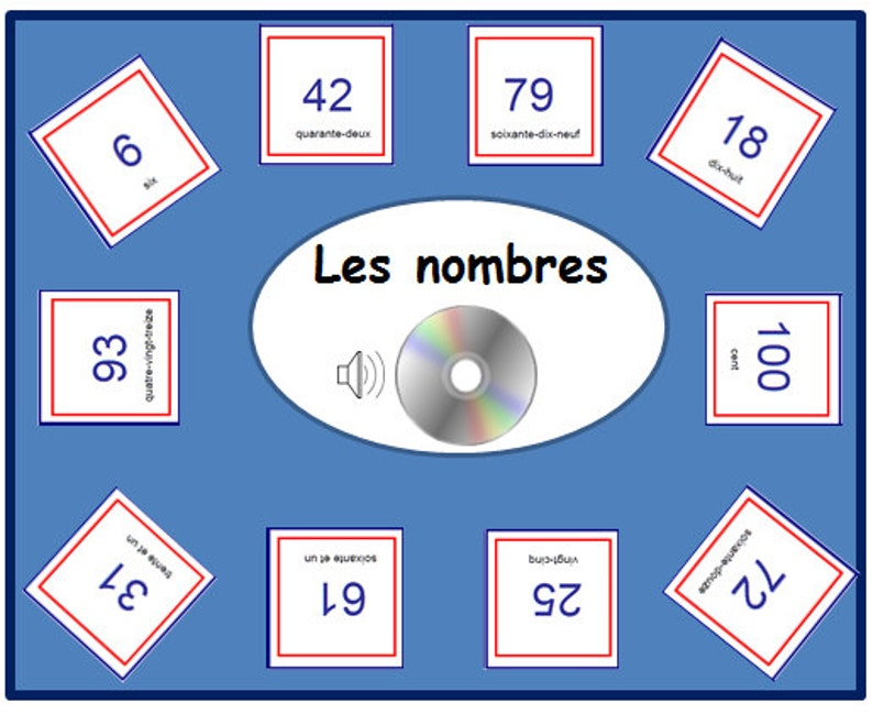 picture regarding Printable French Flashcards identify FRENCH Quantity FLASHCARDS 1/100 with Pronunciation upon New music Record,Quantities Printable,Quantity Playing cards,Informative Flashcards,French Language Playing cards