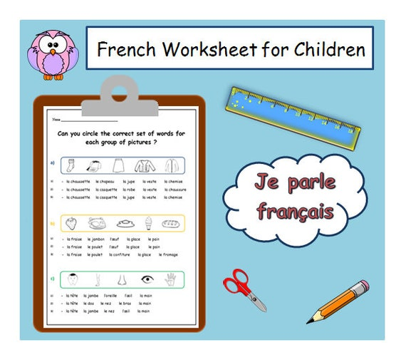 FRENCH LEARNING / French Worksheet Printable For Children ...